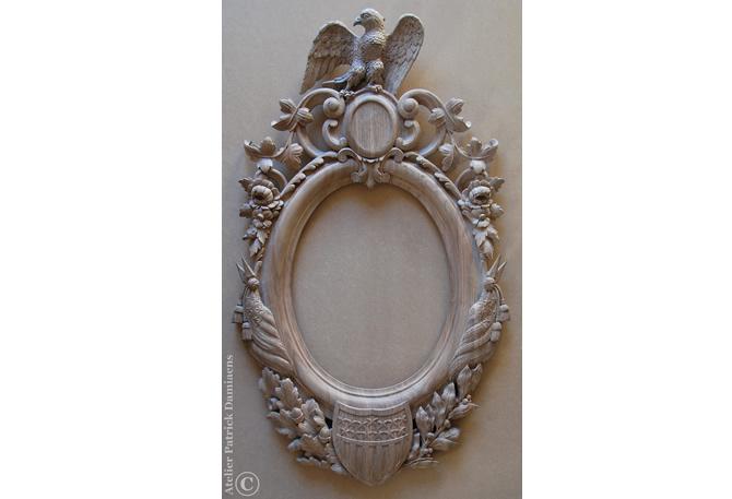 uitgesneden hout ornament