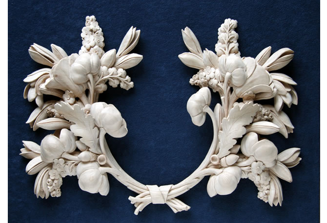 High relief carving images
