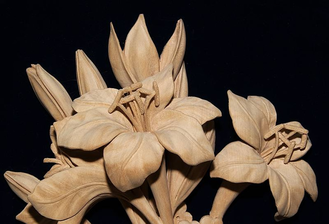 High relief carving grinling gibbons style fine