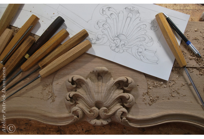 Chimney pieces custom made carved wood hand carved period style